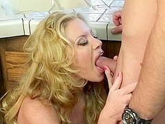 Fabulous pornstar Bridgette Kerkove in crazy gaping, blowjob porn clip