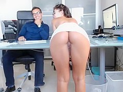 Fascinating girl putting her magnificent ass on display for