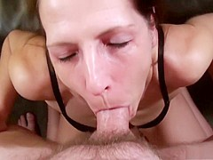 Hottest pornstar Marie Madison in crazy facial, mature sex video