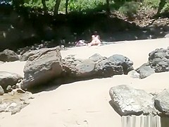 Voyeur secretly films woman in bikini sunbathing