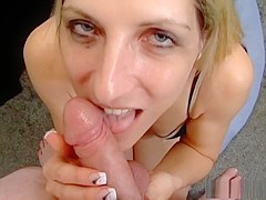 Fabulous pornstar Marie Madison in hottest swallow, blowjob adult video