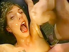 Crazy Amateur movie with Gangbang, Brunette scenes