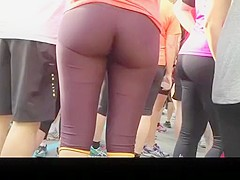 Women in tight sport shorts with great asses