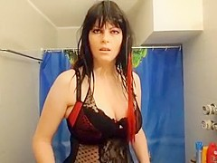 Incredible Homemade video with Brunette, Lingerie scenes
