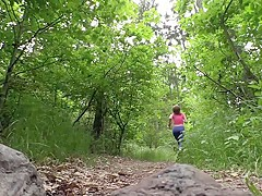 RELAXXXED - Blowjob in the forest leads to passionate sex with sensual Czech babe