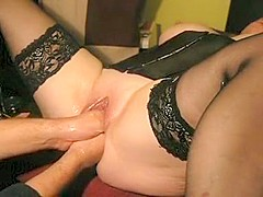 Amazing Homemade video with Fisting, Stockings scenes