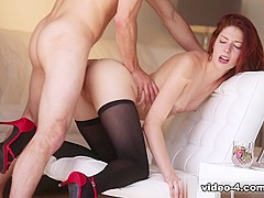 Incredible pornstar Ashlyn Molloy in Fabulous Cumshots, Stockings adult movie