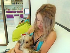 Leka Wax plays with herself on live cam on SexyChatCam - Part 2