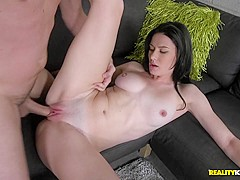 Hottest pornstars Tony Rubino, Kymberlee Anne in Crazy Brunette, Facial sex scene