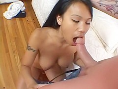 Incredible pornstar Luci Thai in amazing asian, blowjob adult video