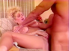Horny pornstar Samantha Strong in fabulous blonde, big tits adult clip