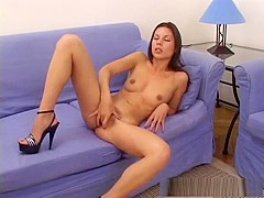 Hottest pornstar Vanessa Mae in crazy solo girl, brunette sex movie