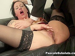 Jemma Summers in hard face-slapping makes her cum - PascalsSubSluts