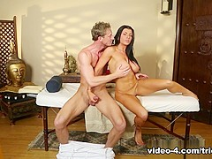 Horny pornstars Romi Rain, Ryan McLane in Amazing Brunette, Massage adult clip