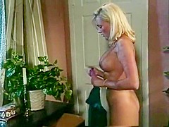Horny pornstars Stacy Valentine and Shayla Laveaux in fabulous facial, masturbation porn movie