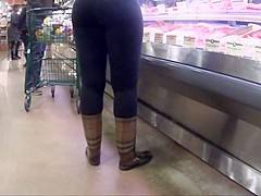 Horny amateur Big Butt, Voyeur xxx clip