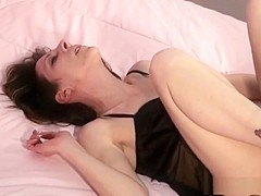 Incredible pornstar Marie Madison in fabulous blowjob, brunette porn video