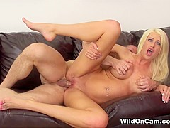 Hottest pornstar Riley Jenner in Amazing Cumshots, MILF sex movie