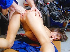 Alina Rose & Terry in Cute Milf Hard Fucked In The Garage - MMM100