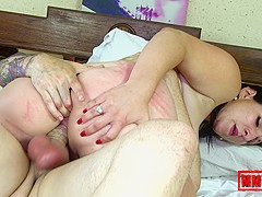 Mylene Johnson & Kevin White in Chubby Babe Oiled And Assfucked - MMM100