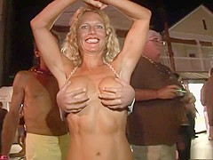 Exotic pornstar in crazy striptease, outdoor porn scene