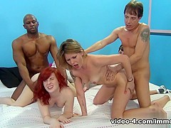 Incredible pornstars Holly Starr, Emma Snow in Best Group sex, Interracial porn video