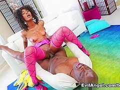 Amazing pornstars Misty Stone, Lexington Steele in Horny Black and Ebony, Stockings sex video