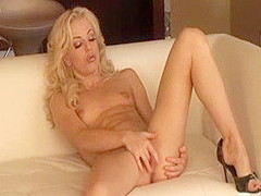 Horny pornstar Angela Stone in incredible blonde, small tits xxx clip
