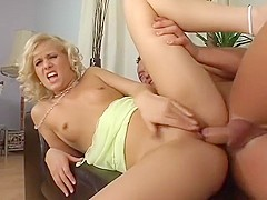 Fabulous pornstar Sara Blue in horny blowjob, small tits sex scene