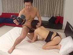 Horny Japanese chick Yuzuka Kinoshita in Amazing Fingering, Cunnilingus JAV movie