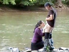 Couple fucking at the lake side