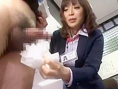 Crazy Japanese whore Aya Sakurai in Exotic Handjobs, Voyeur JAV movie