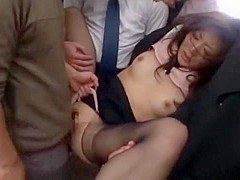 Hottest Japanese whore Miharu Izawa, Azusa Maki, Mirei Shiratori in Crazy Fingering, Bus JAV video