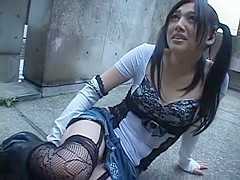 Best Japanese whore Saori Hara in Incredible Outdoor, Stockings/Pansuto JAV movie