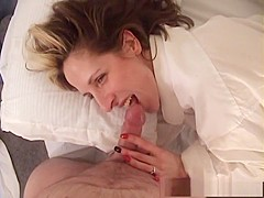 Exotic pornstar Marie Madison in crazy blowjob, blonde porn movie