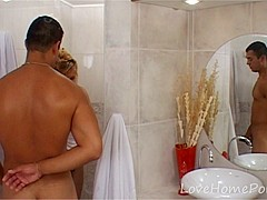 Hot wife gets penetrated in the bathroom