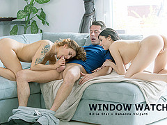 Billie Star & Rebecca Volpetti in Window Watching - StepmomLessons