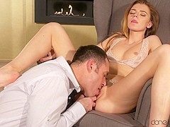 James Brossman & Mary Kalisy in Russian beauty handles a big cock - DaneJones