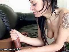 Vanessa Naughty & Dick James in Big Black Cock For White Little Pussy - MMM100