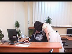 Having teen sex in the office - watch part2 on wetchat.net