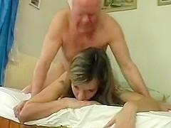 Amazing Amateur video with Girlfriend, Young/Old scenes
