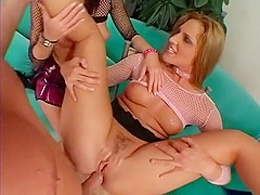 Horny pornstars Lauren Phoenix and Melissa Lauren in exotic blowjob, blonde xxx movie