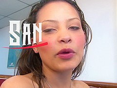 SANTA LATINA - Hot Colombian with a big ass enjoys a stiff shaft up her sweet hole