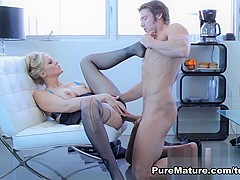 Crazy pornstar Julia Ann in Exotic Stockings, MILF xxx video