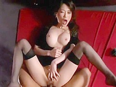 Exotic Japanese chick Akari Hoshino in Horny Stockings, Lingerie JAV video