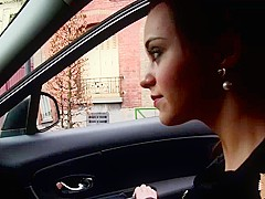 Lea Guerlin rides cock in the backseat