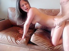 Horny homemade Brunette, Doggy Style porn clip