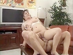 curvy chubby milf sucking and fucking cock , doggy and deep