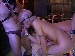 Amazing pornstars Monica Moore, Christel Starr and Loureen Kiss in incredible blonde, anal porn vide