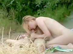 Young lovers caught fucking in the nature